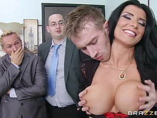 Danny D screws busty sunless MILF Romi Spew take be transferred to tryst